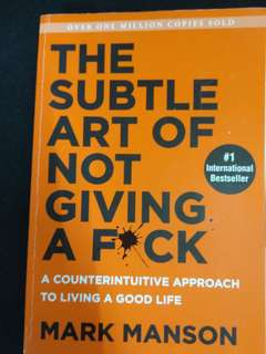 The subtle art of not givinf a fuck