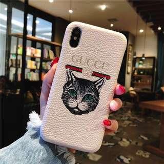 Iphone 7+ 8+ Gucci CAT casing
