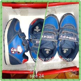 Snoopy rubber shoes