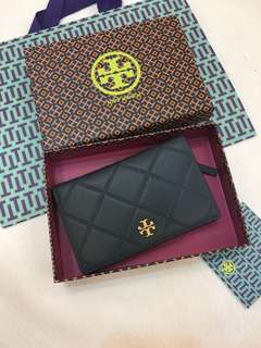 (RS)Original Tory Burch Georgia Slim Wallet