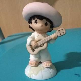Buy 3 Get 1 Free : Precious Moments Boy With Guitar Figurine : Hola,  Amigo
