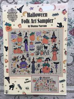 Halloween Folk Art Sampler Cross Stitch Book