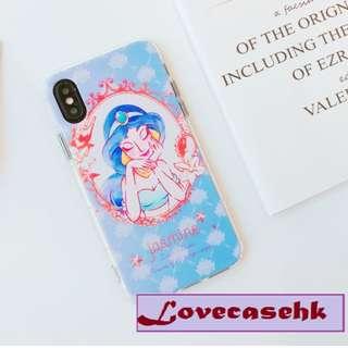 手機殼IPhone6/7/8/plus/X : 公主系列之茉莉JASMINE全包邊軟殼