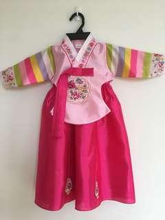 Korean Hanbok for girls (age 1-2)