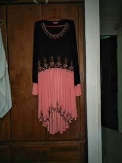 Baju kurung top and skirt