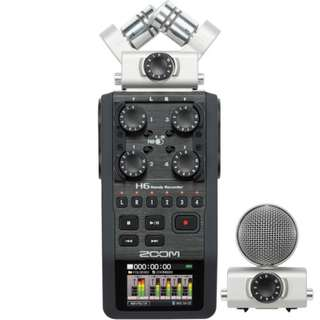 🚚 Zoom H6 Handy Recorder with Interchangeable Microphone System (4 XLR Input)