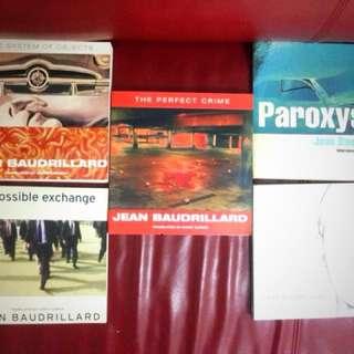 Philosophy books by Baudrillard