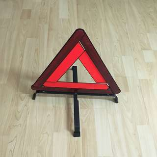 CLEARANCE SALES {Vehicle Accessories - Warning/Breakdown Sign} Pre-owned Triangle Warning Hazard/Breakdown Sign 三角形警告标志牌