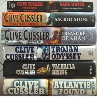 CLIVE CUSSLER - The Dirk Pitt Adventure & The Oregon Files Series