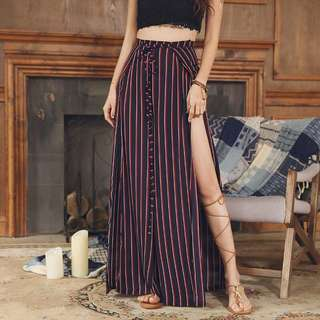 Restock! Stripes Slit Pants