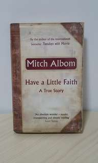 Mitch Albom Have A Little Faith Book