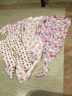 Girl Pyjamas 5-7years old