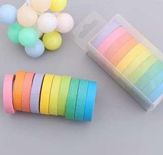 Rainbow Washi Tapes