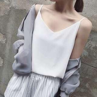 [PO] loose chiffon camisole tops