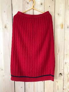 🚚 大紅彈性個性裙