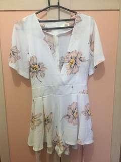 Jumpsuit white floral