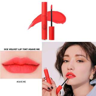 3CE - VELVET LIP TINT SAVE ME