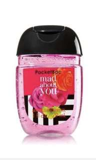 PocketBac Bath and Body Works Mad About You Anti Bacterial Hand Gel Sanitiser