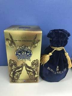 Chivas Regal Royal salute 21 Yo Scotch Whisky-Blue