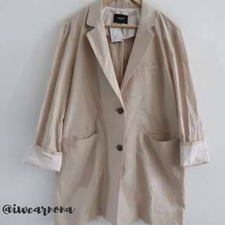 Long blazer korean daily