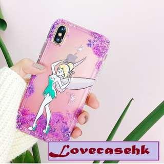 手機殼IPhone6/7/8/plus/X : 紫色花花小仙子全包邊透明軟殼