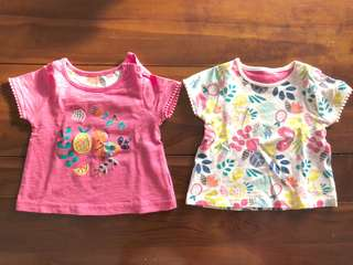 2pc Babygirl T-shirt 6-9months old