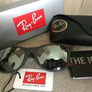 Ray Ban 太陽眼鏡 反光銀色