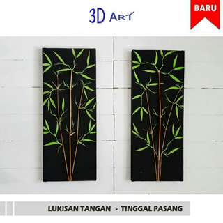 (F.O) LUKISAN DINDING REAL-HAND BEAUTIFUL PAINTING