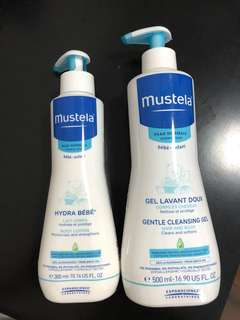 Mustela cleansing gel and lotion
