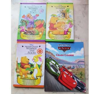 Winnie the Pooh story books (with free Cars book)