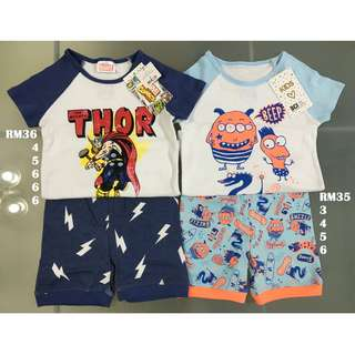 Cotton On Shorts PJ Set Size 3 4 5 6