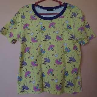 Printed cropped shirt