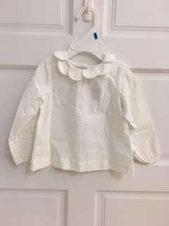 二手衣jacadi圓領娃娃裝襯衫