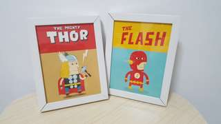 Marvel Thor & Flash Framed Decor