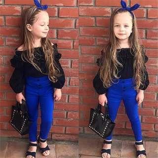 (PO)baby girl top and pants set..