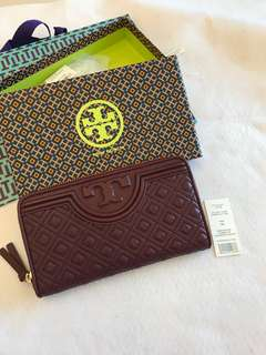 (RS) Original Tory Burch Fleming Zip Continental Wallet