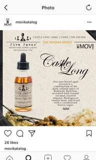 Liquid Vape Premium Five Pawns casltle long 3MG 60ml