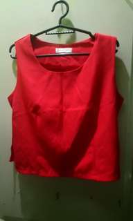 Red sleveless top