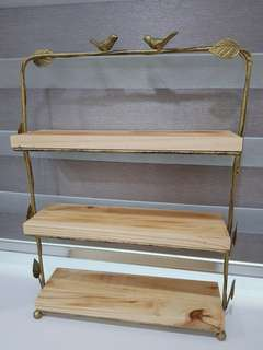 Rental of 3 tier wooden rack or cake stand