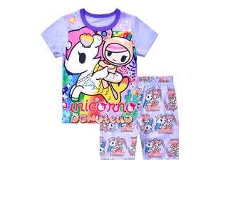 Tokidoki Pyjamas set short sleeve Sleepwear casual Outing Wear