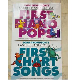 Piano books - John Thomson's Easiest Piano Course: First Piano Pops + First Chart Songs