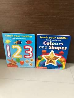2 for $25 (Free Postage)- BN Teach Your Toddler Touch and Trace (Colours and Shapes)/(123)