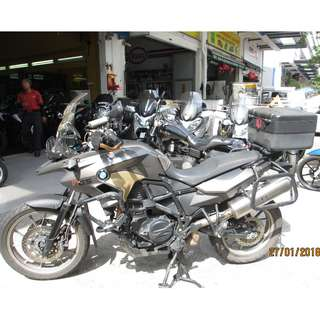 BMW F700 GS 2013 $17K D/P $500 or $0 With out insurance (Terms and conditions apply. Pls call 67468582 De Xing Motor Pte Ltd Blk 3006 Ubi Road 1 #01-356 S 408700.