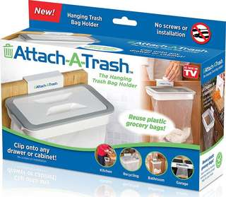 Attach-A-Trash Hanging Trash Bag Holder