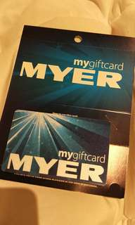 myer $50 gift card