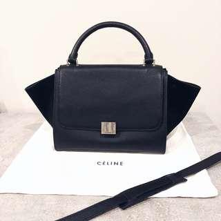SALE! Celine Trapeze Mini Shoulder Leather Handbag Bag