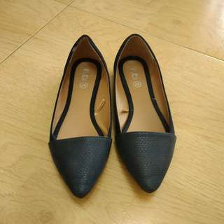 Rubi flats shoes in navy blue