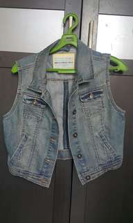 New look denim vest/ rompi jeans