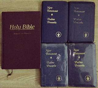 Holy Bible with FREE 4 New Testament Bibles