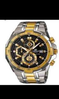Casio Edifice Men's Two tone Stainless Steel Strap Watch EFR-539SG-1A